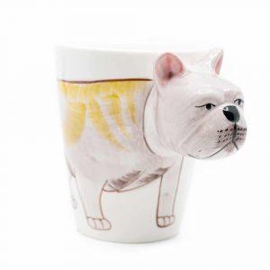 Tasse Handbemalte Bulldogge