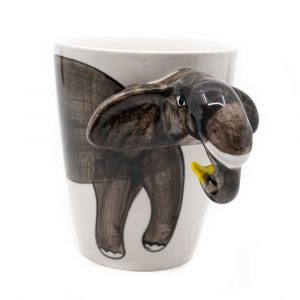 Tasse Handbemalter Elefant