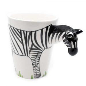 Tasse Handbemaltes Zebra