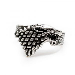 Wikinger-Ring Wolf silber