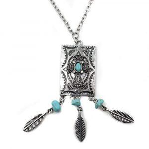 Boho Halskette mit Amulett
