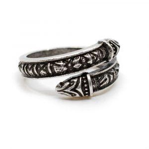 Verstellbarer Wikinger-Ring Runen Silber