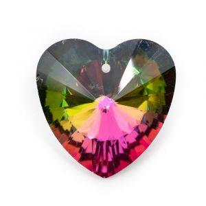 Regenbogenkristall Herzform Mehrfarbig (40 mm)