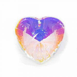 Regenbogenkristall Herzform Perlmutt (40 mm)