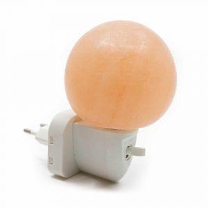 Salzstein-Nachtlicht Orange Kugel