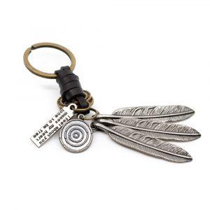 Schlüsselanhänger Boho mit Federn