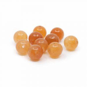 Edelstein Lose Perlen Roter Aventurin - 10 Stück (6 mm)