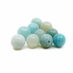 Edelstein Lose Perlen Amazonit - 10 Stück (6 mm)