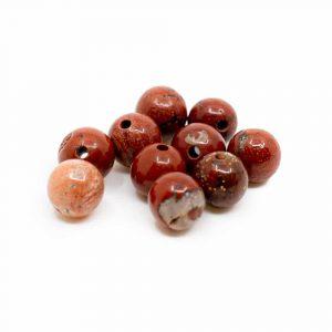 Edelstein Lose Perlen Roter Jaspis - 10 Stück (6 mm)