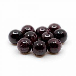 Edelstein Lose Perlen Granat - 10 Stück (6 mm)
