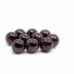 Edelstein Lose Perlen Granat - 10 Stück (8 mm)