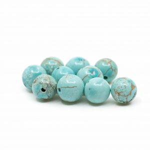 Edelstein Lose Perlen Türkis - 10 Stück (8 mm)