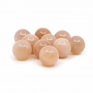 Edelstein Lose Perlen Sonnenstein - 10 Stück (8 mm)