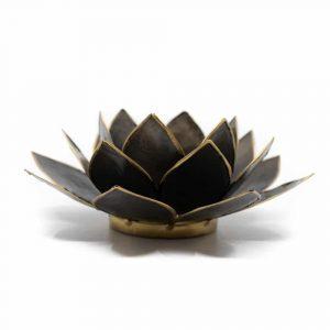Lotus Stimmungslicht Schwarz Goldrand