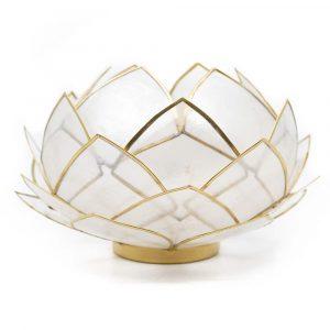 Lotus Atmosphärisches Licht Natürlich Goldrand - Groß