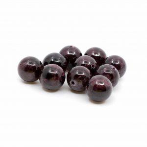 Edelstein Lose Perlen Granat - 10 Stück (10 mm)