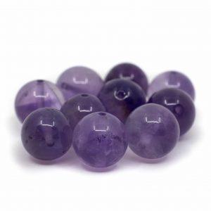 Edelstein Lose Perlen Amethyst - 10 Stück (10 mm)