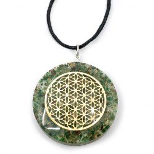 Orgon-Anhänger Blume des Lebens - Jade