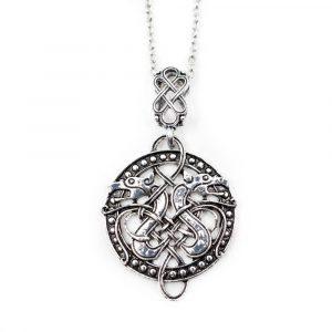 Amulett Wikinger Keltischer Knoten mit Drachen