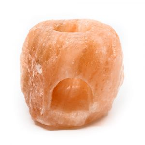 Salzstein Teelichthalter Orange Aroma Diffusor (1 kg) 10 x 9 x 9 cm