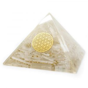 Orgonit Pyramide - Seleniet mit Blume des Lebens (70 mm)