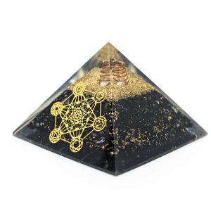 Orgonpyramide Schwarz Turmalin Metatron Groß