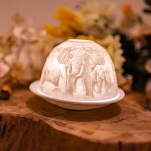 Stimmungslicht Porzellan Elefanten