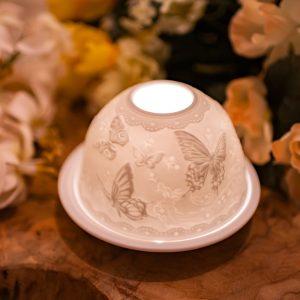 Stimmungslicht Porzellan Schmetterlinge
