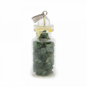 4. Chakra-Flaschenanhänger Grüner Aventurin mit Bergkristall