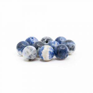 Edelstein Lose Perlen Sodalith - 10 Stück (8 mm)