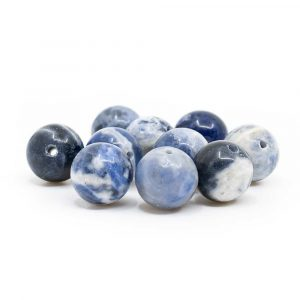 Edelstein Lose Perlen Sodalith - 10 Stk (10 mm)