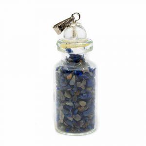 6. Chakra-Flaschenanhänger Lapislazuli mit Bergkristall