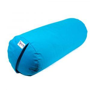 Yoga-Polster Türkis Rund Baumwolle - einfarbig - 59 x 21,5 cm