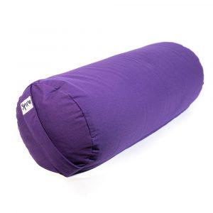 Yoga Bolster Lila Rund Baumwolle - einfarbig - 59 x 21,5 cm