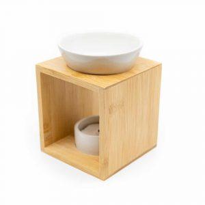Luxus-Aromabrenner Holz - Weiß
