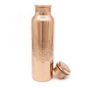 Spiru-Kupfer-Wasserflasche Mandala geätzt - 900 ml