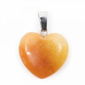Herzform Edelsteine Anhänger Honig-Jade (20 mm)