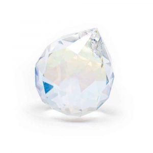 Regenbogen-Kristallkugel Perlmutt (50 mm)