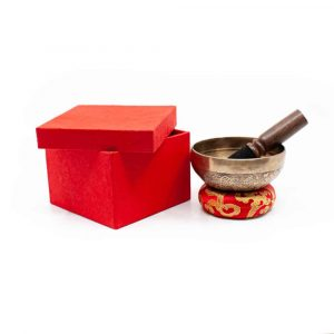 Klangschalen-Geschenkset - tibetisch-graviert 10 cm