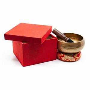 Klangschalen-Geschenkset - Dharma-Chakra 12 cm