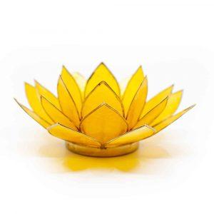 Lotus Atmosphärisches Licht Gelb 3. Chakra Goldrand
