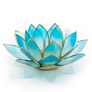 Lotus Atmosphärisches Licht 2-Farbig Hellblau/Blau Goldrand