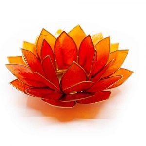 Lotus Atmosphärisches Licht Orange Goldrand - Deluxe
