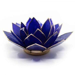Lotus Atmosphärisches Licht Indigo 6. Chakra Goldrand