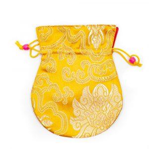 Handgemachte Brokat-Tasche - Gelb