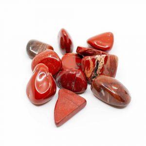 Trommelsteine Roter Jaspis (20 bis 40 mm) - 200 Gramm