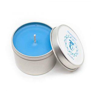 Natürliche Duftkerze 5. Chakra - Vanille