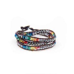 Bohemian Chakra Perlen Wickel-Armband