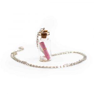 Wunschkette - Flaschenpost Rosa