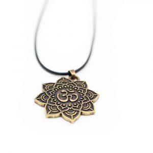 OM-Mandala-Halskette tibetisch - Golden